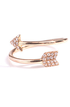 Diane Kordas diamond arrow ring at Matches