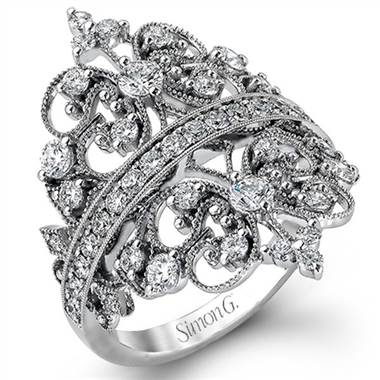 "Simon G MR2389 Simon G ""Duchess Collection"" Crown Design Diamond Ring by Solomon Brothers"