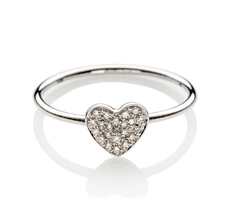 Diamond heart ring by EF Collection