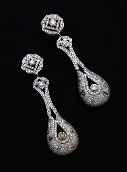 Rio Tinto Courageous Spirit Diamond Earrings Designed by Reena Ahluwalia