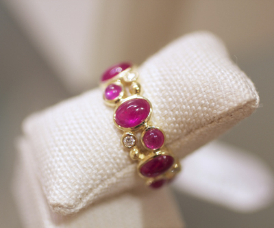 Elizabeth Showers Madeleine ring with rubies and diamonds