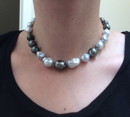 Baroque Tahitian and South Sea Pearl Necklace • Image by Elysian