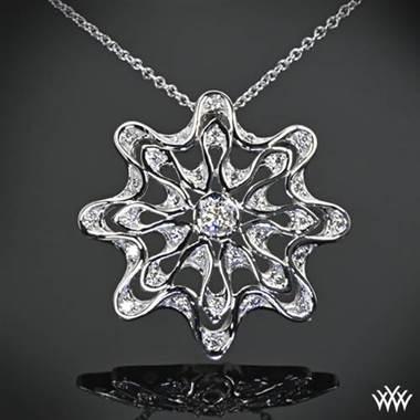 "Platinum ""Embrace"" Diamond Pendant by Whiteflash"