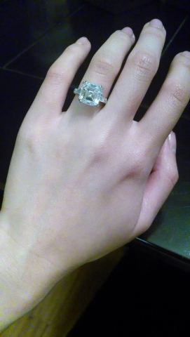 Emerald-cut diamond engagement ring shared by Puppy4248