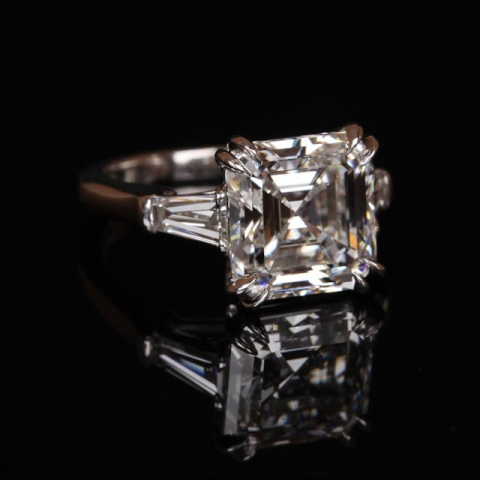 Emerald-cut classic engagement ring shared by Puppy4248