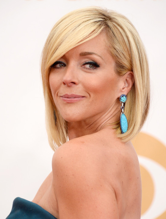 Emmy nominee Jane Krakowski • Carved turquoise earrings by Wendy Yues