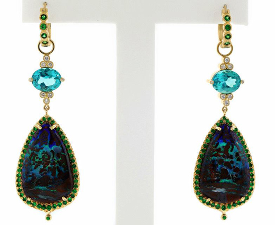 2013 AGTA Spectrum Awards Best Use of Color • Erica Courtney opal earrings