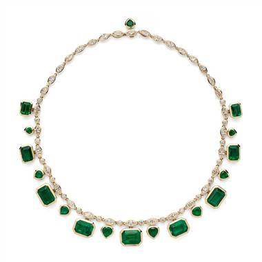 Estate Emerald and Diamond Statement Necklace (52.71 ct. tw.) at Blue Nile
