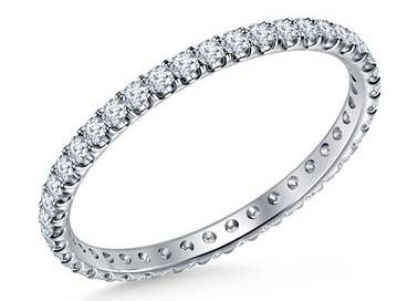 Eternity Diamond Comfort Fit Band in Platinum at B2C Jewels