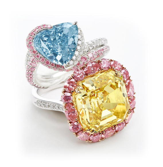Sotheby's Hong Kong April 8 Auction: Fancy Colored Diamond Rings