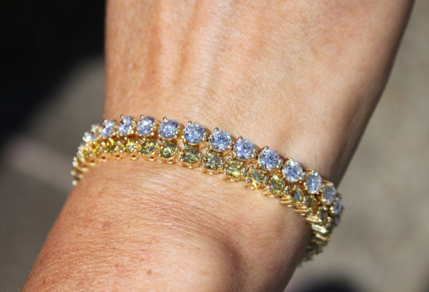 Fancy Yellow and White Diamond Bracelets • Image by cflutist