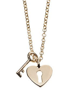 Heart and key necklace Minor Obsessions by Finn