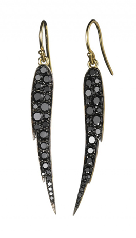 Finn • Pavé black diamond Angel Wing earrings