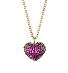 Ruby heart pendant by Finn