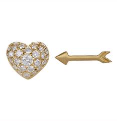 Heart & Arrow diamond studs by Finn