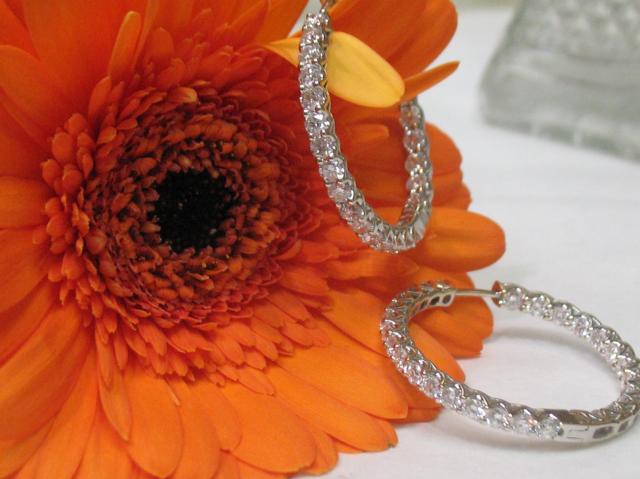 Diamond hoops shared by Farleysmom