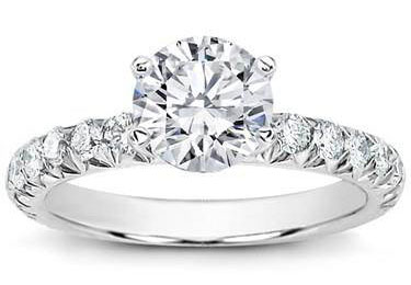 Large French Cut Diamond Engagement Setting at Adiamor