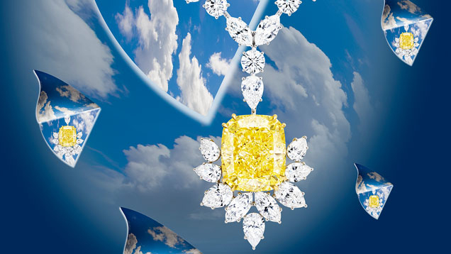 Necklace by Chatila featuring a 54.29-carat yellow diamond from 'Dreams of Diamonds
