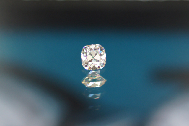 August Vintage Cushion Diamond from Good Old Gold