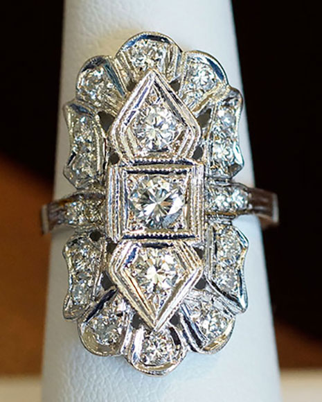 Door Prize PS GTG 2016:  1.34 cttw Vintage Diamond Ring (Top View) from Good Old Gold