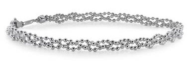 Garland Bead Bracelet in Platinum by Blue Nile