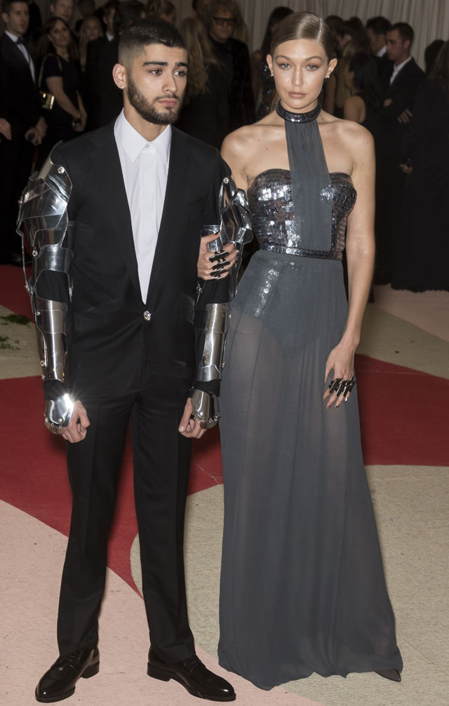 Manus x Machina:  Fashion in the Age of Technology - Gigi Hadid and Zayn Malik at Meta Gala 2016