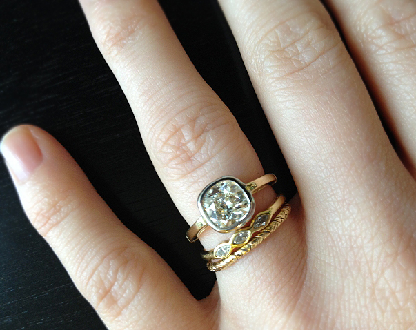 Jewel of the Week Gorgeous in Gold Bezel Diamond Engagement Ring