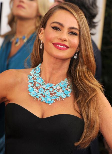 2014 Golden Globes - Sofia Vergara in jewels by Lorraine Schwartz