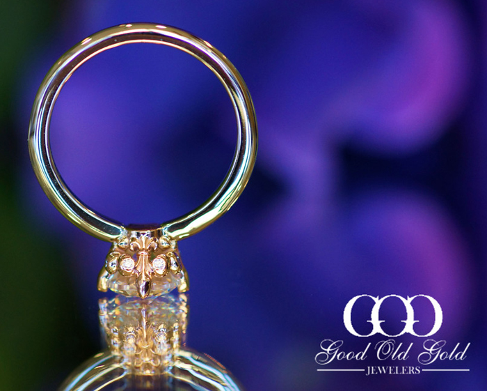 'Elegance' Engagement Ring Setting from Good Old Gold