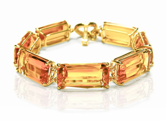 Goshwara Gossip Collection Citrine Bracelet