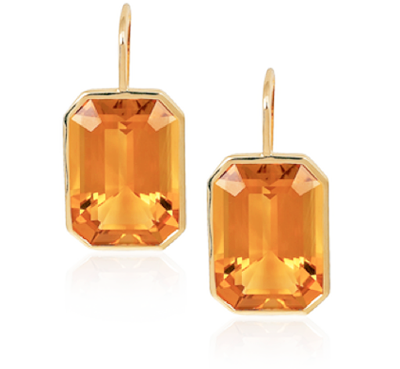 Goshwara Gossip Collection Citrine Earrings