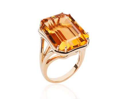 Goshwara Gossip Collection Citrine Ring