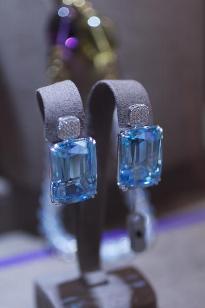 Goshwara topaz and diamond earrings