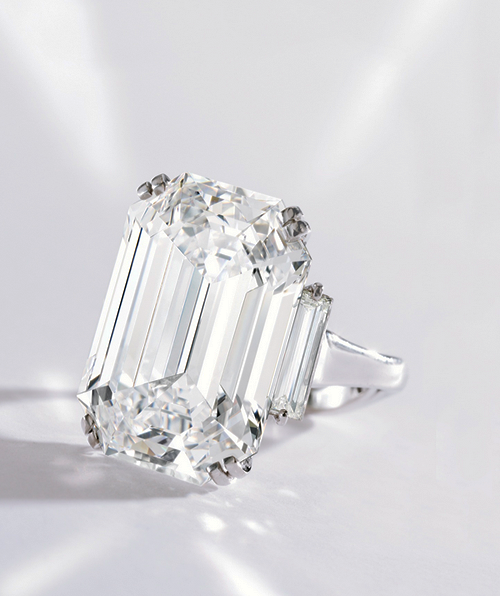 Platinum and Diamond Ring by Graff, Sotheby's