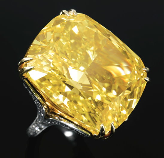 100.09-carat Graff Vivid Yellow diamond • Sotheby's