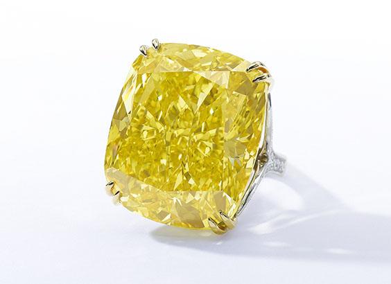 100.09-carat Graff Vivid Yellow diamond • Sotheby's