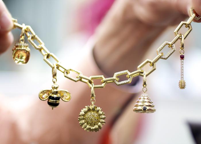 Gumuchian bee charm bracelet • Image Erika Winters