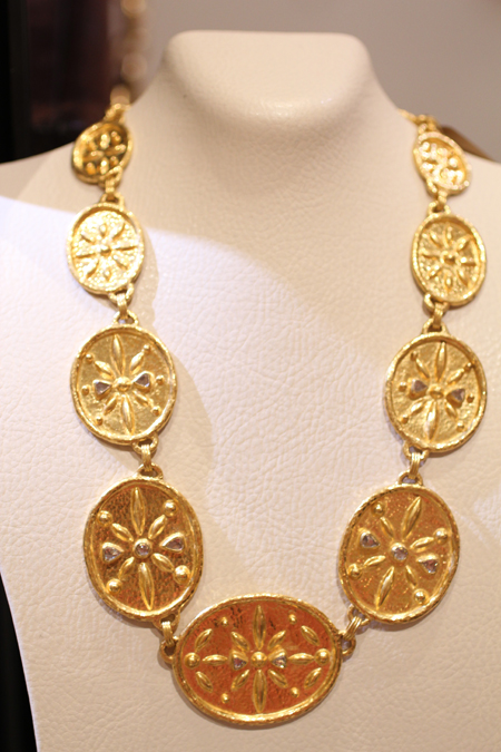 24k gold diamond necklace Gurhan Couture 2011