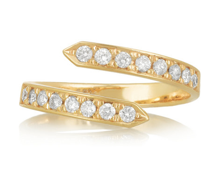 Halleh pinky twist diamond ring at Net-A-Porter
