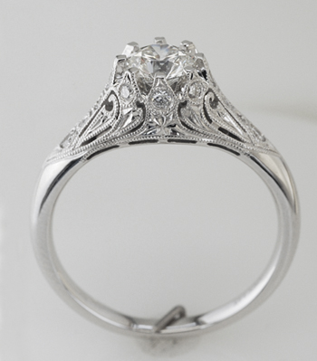 High Performance Diamonds: Crowning Glory diamond engagement ring