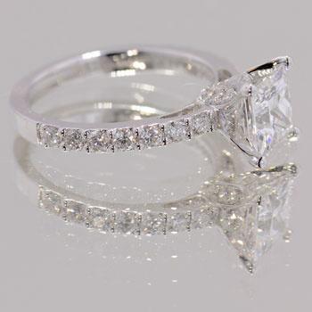 High Performance Diamonds: Rush diamond engagement ring