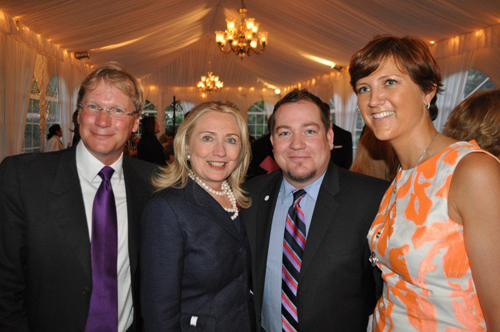 Hillary Clinton and Lita Asscher at the Human Rights Campaign Fundraiser
