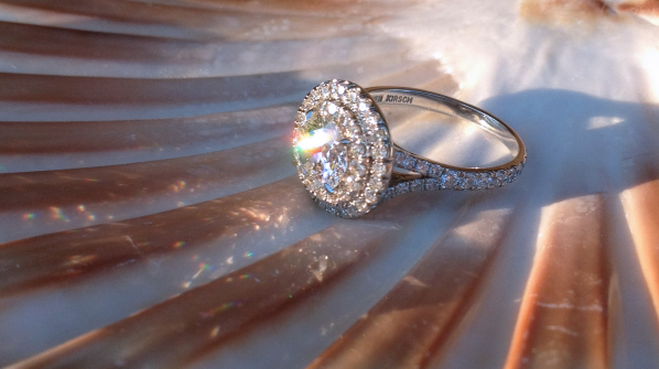 Double Halo Diamond Ring, Profile