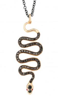 Ileana Makri • Black Mamba pendant