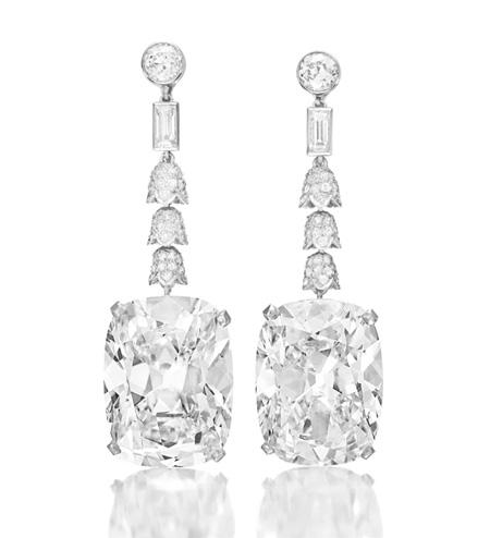 The Imperial Cushions Diamond Ear Pendants