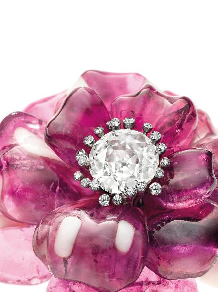 camellia brooch by JAR • Image: Christie's