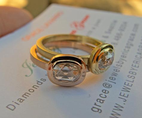 Rose Cut Diamond Phoebe Ring by JBEG