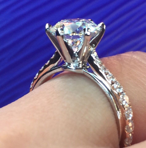 Agnesg's Full Eternity 1.85 Carat Two-Tone 18K Rose and White Gold Engagement Ring2 - image by Agnesg