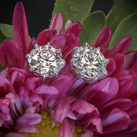 Andelain's Custom 8-Prong Stud Earrings (Flower View) - image by Whiteflash