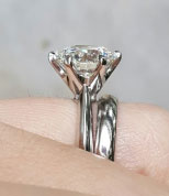 Charlize's Upgrade 4.01 Carat Classic Tiffany Inspired Engagement Ring (Side View 2) - image from Charlize